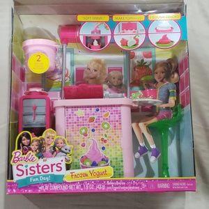 NIB Barbie Yogurt Stand